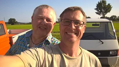 Peter und Christoph im Allgäu beim APE-Kauf
