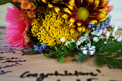 Rings and a Greeting Board