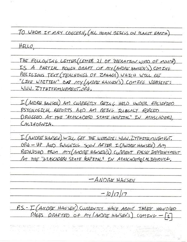 OWOM letter 21 , page 1       20191202_0