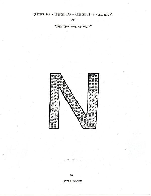 OWOM letter 26,27,28,29, cover
