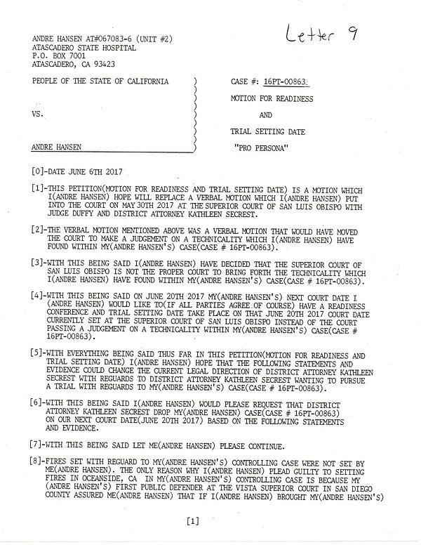 OWOM letter 9, page 1     20191126_14563