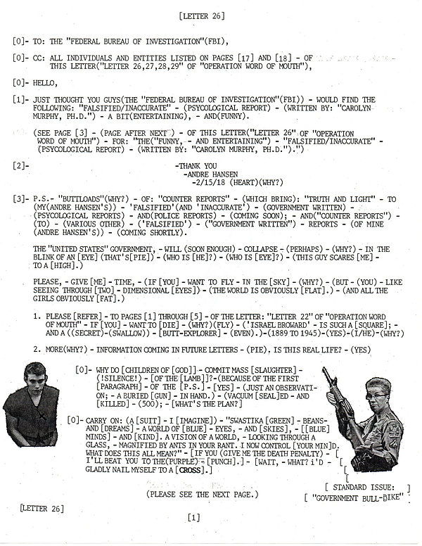 OWOM letter 26,27,28,29, page 1