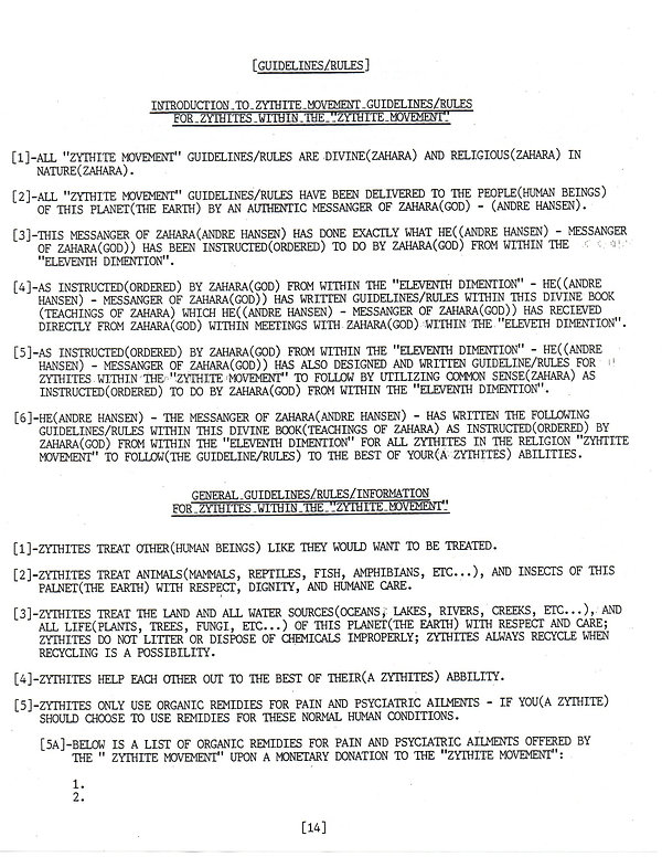 Rules and guidelines of the ZM, page 1.j