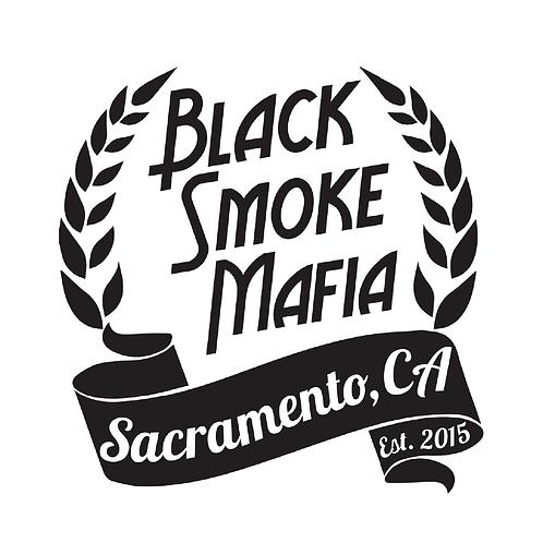 Black Smoke Mafia Leaf Sticker
