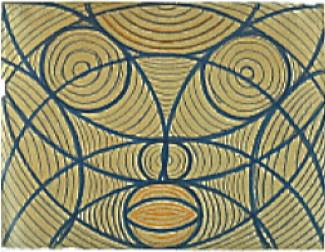 Een van de tekeningen die Vaslav maakte in het gesticht.
