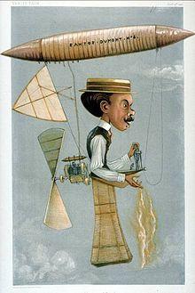 Karikatuur van Alberto Santos-Dumont