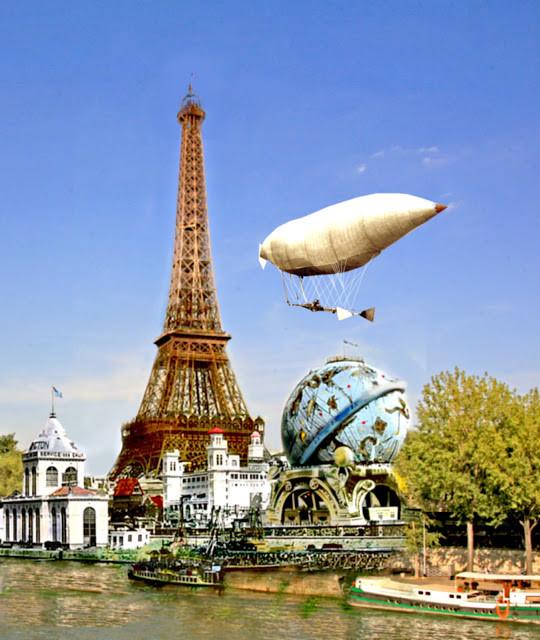 De Gevleugelde vliegt over de Wereldtentoonstelling