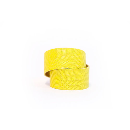 Täisnahast kollane lai käepael