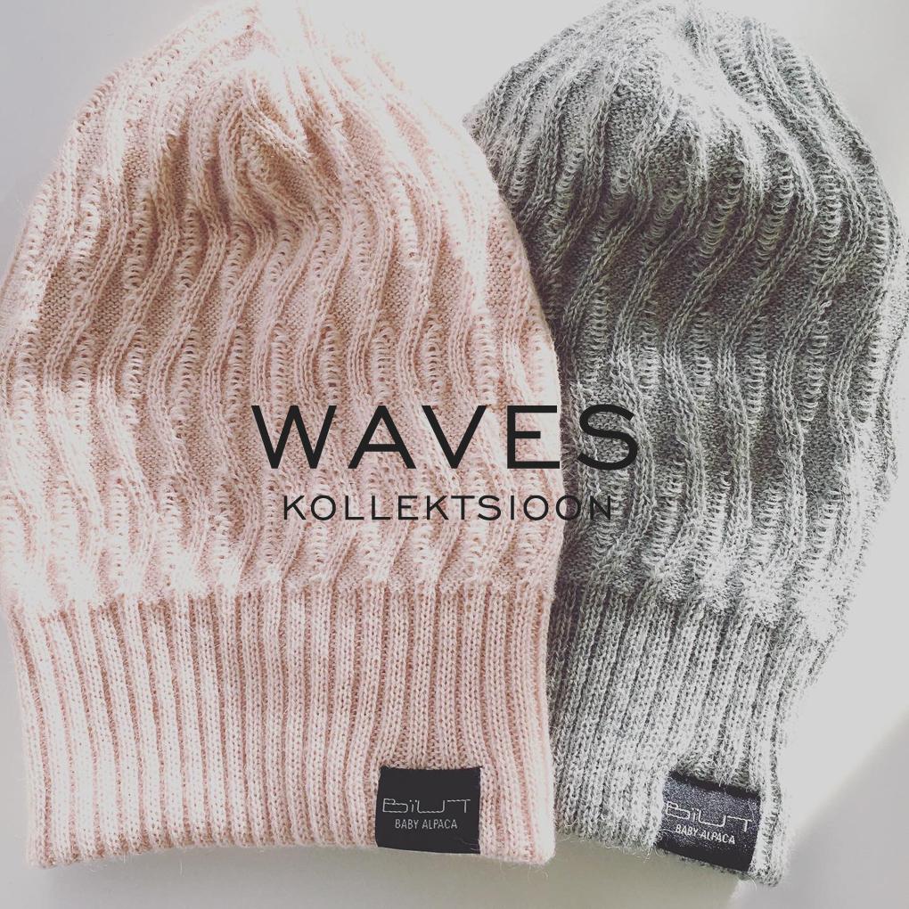 WAVES kollektsiooni mütsid, 100% baby alpaca