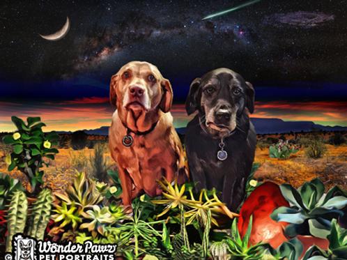 8x10 Sadie & Sam in Southwestern Sky I