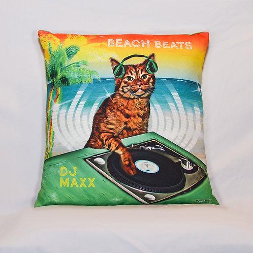 DJ Maxx in Beach Beats ~ Pillow Cover