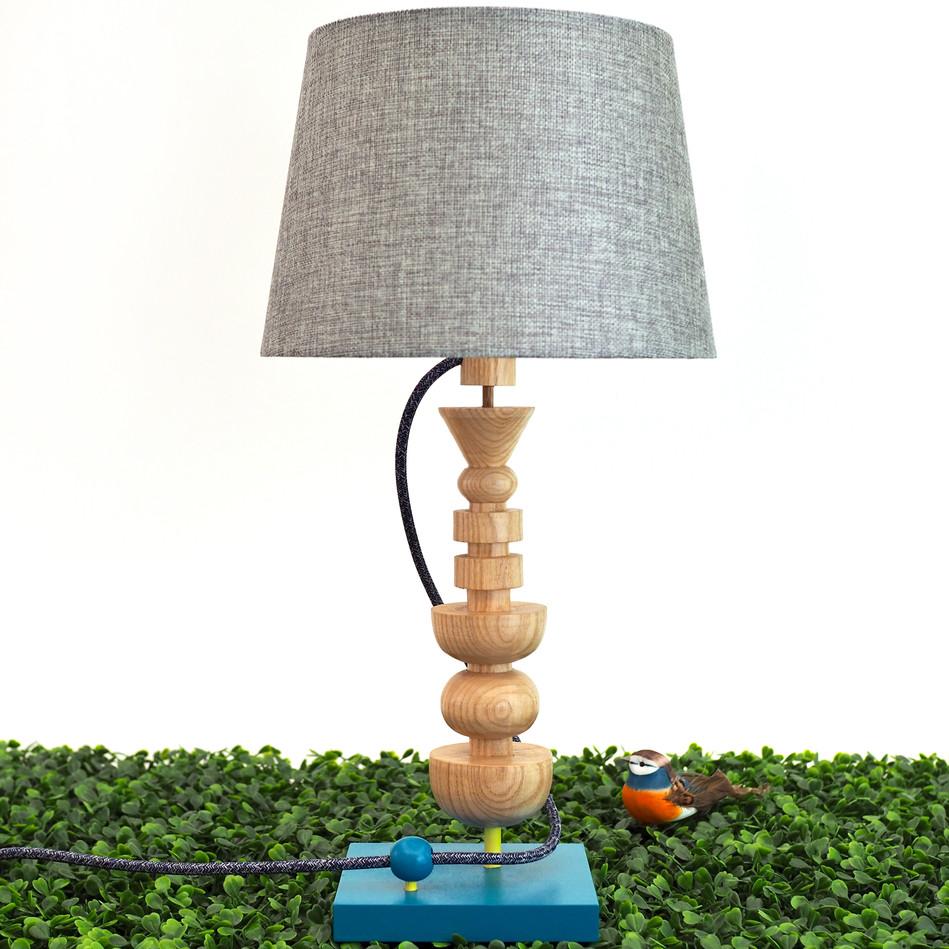 handturned handmade ash wood lamp handmade custom Meg Morrison Design