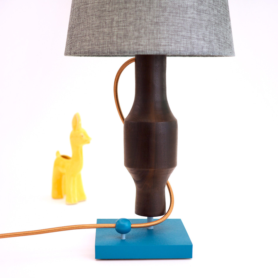 Meg Morrison Design cambia poplar wood lamp handmade