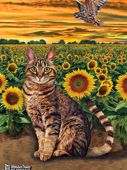 Neko in Sunflower Fields