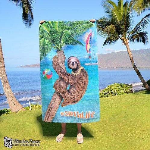 #SlothLIfe Beach Towel