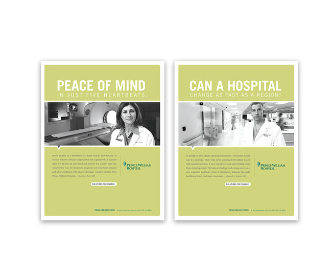 hospital print ad meg morrison design