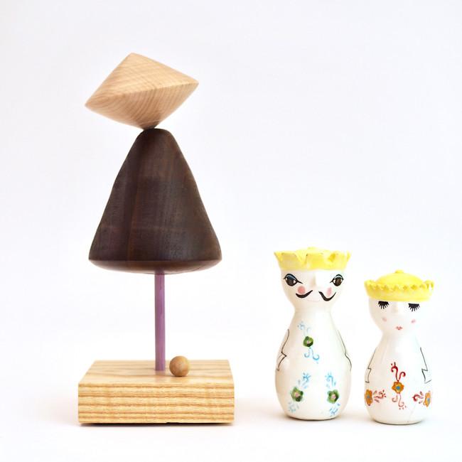Meg Morrison Design modern sculpture for decor handmade from wood