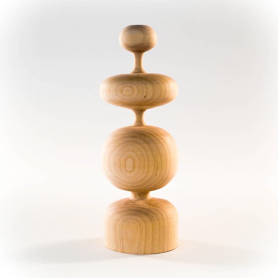 midcentury handmade wood table top sculpture by Meg Morrison Design