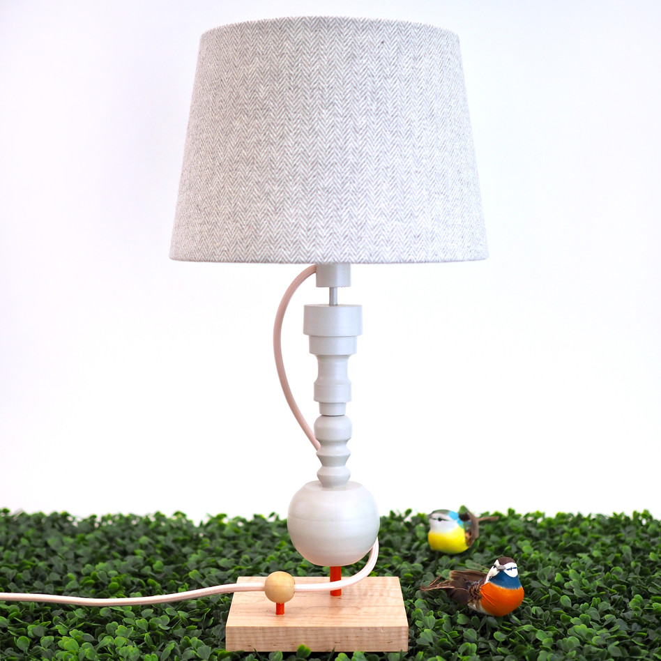 table lamp handmade from wood handmade custom Meg Morrison Design