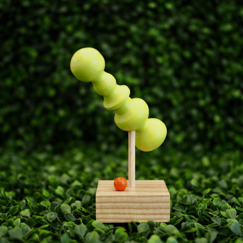 Meg Morrison Design modern sculpture for decor handcrafted from wood, woodturning