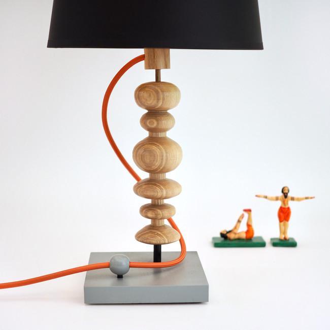 table lamp handmade from wood woodturning art handmade custom Meg Morrison Design