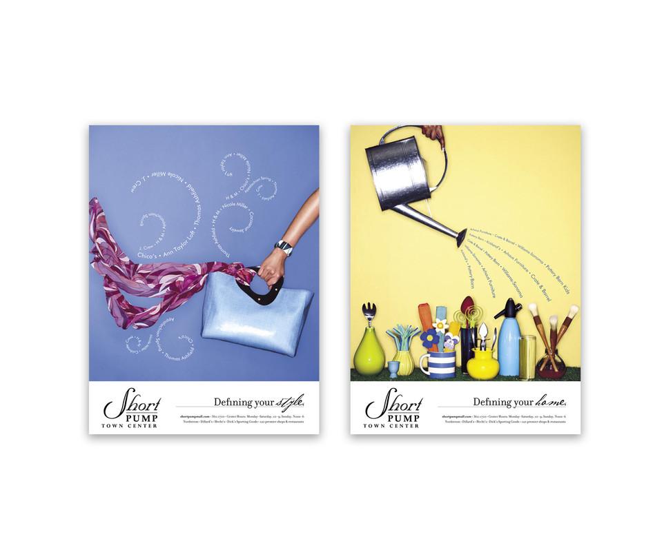print ad for short pump town center Meg Morrison Design