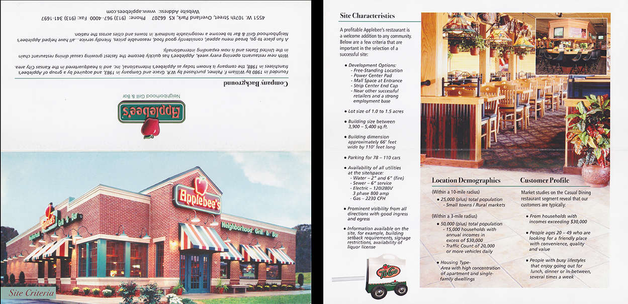 Applebee's Brochure