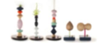 Meg Morrison Design wood sculptures and candlesticks