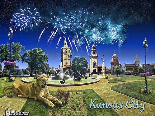 8x10 KC Plaza with KC Zoo Lion