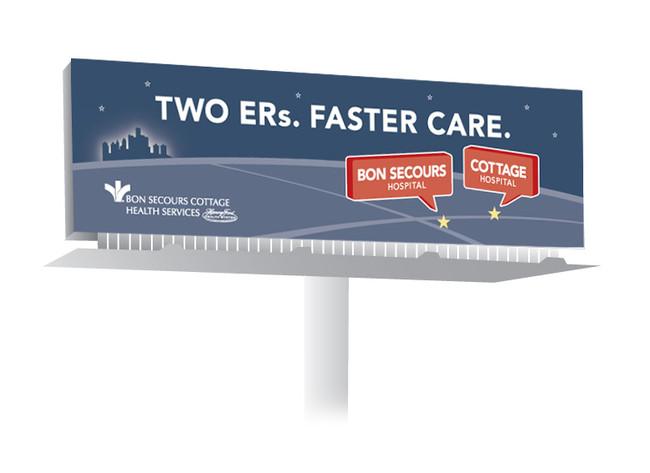emergency room billboard meg morrison design