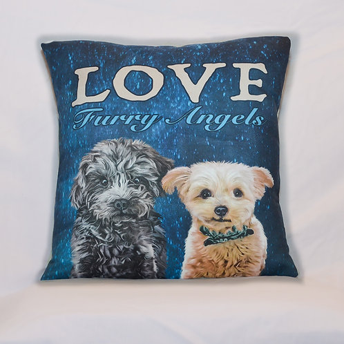 Love Furry Angels ~ Pillow Cover