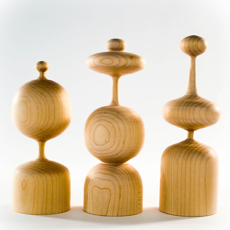 handmade wood table top sculpture grouping by Meg Morrison Design
