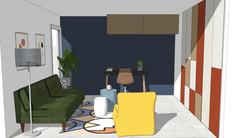 Render Design - Spare Room/Work Space