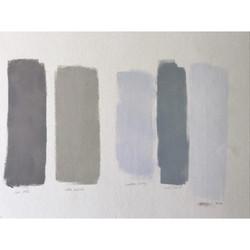 Colour Pantones paint swatches