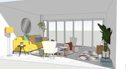 Render Design - Lounge Area