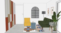 Render Design - Spare Room Lounge