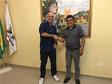 Prefeito Naldinho recebe empresário que adquiriu a Fábrica de Castanhas