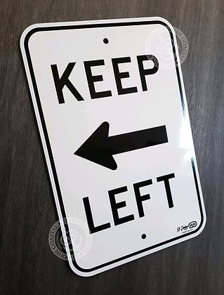 St John Signs: Keep Left