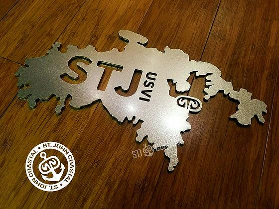 "Island Shape 12"" w/ STJ USVI"