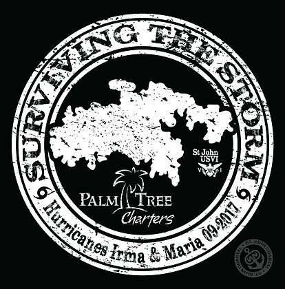 """Palm Tree Charters """"Surviving the Storm"""" decal"""