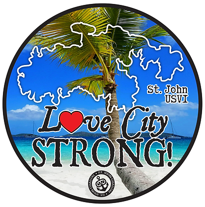 Love City Strong circle decal