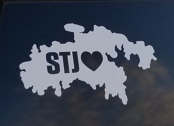 St John STJ Love decal