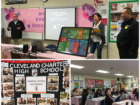 Presenting at Cleveland Charter High School and teaching parents Substance Abuse Prevention