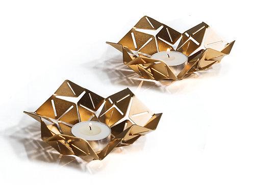 KANO - Brass Origami Tea Light Holders