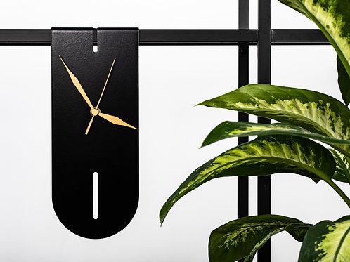 designer black modern clock