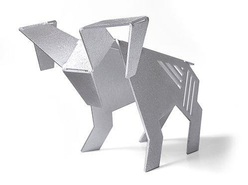 Modern geometric Aries figurine