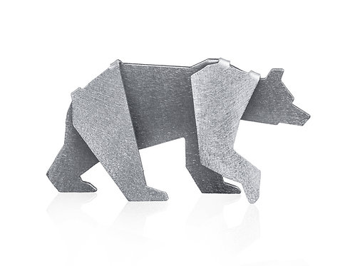 Baby bear. 1st mothers day. Geometric bear figurine