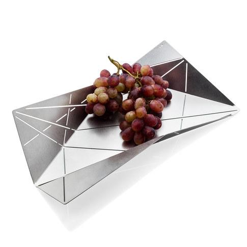 FORI-origami fruit holder. Fruit Bowl. Key Holder. Centerpiece. Modernist Metal Decorative Bowl. Innovative design