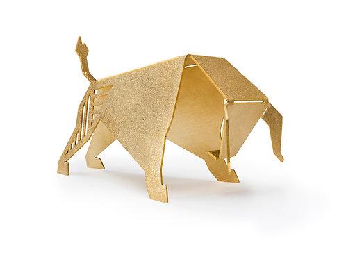 פסל שור זהב גיאומטרי