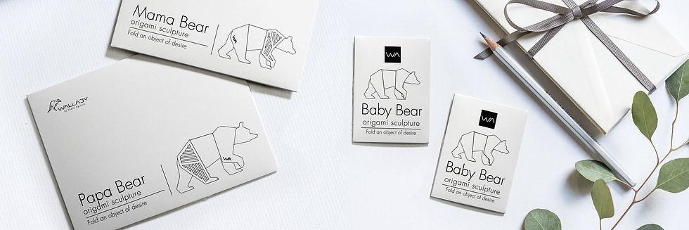 bears family gift idea bears figurines geometric